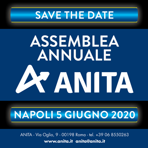 Napoli: il 5 giugno 2020 l'Assemblea generale ANITA