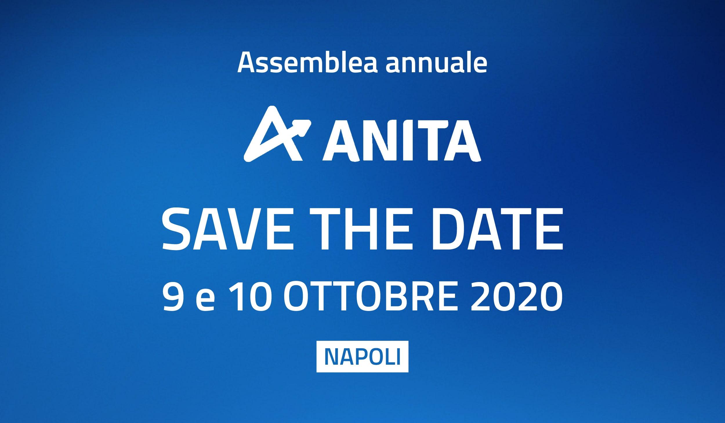 Napoli: il 9 e 10 ottobre 2020 l'Assemblea generale ANITA